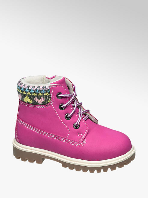 Cupcake Couture Toddler Girl Pink Lace-up Ankle Boots