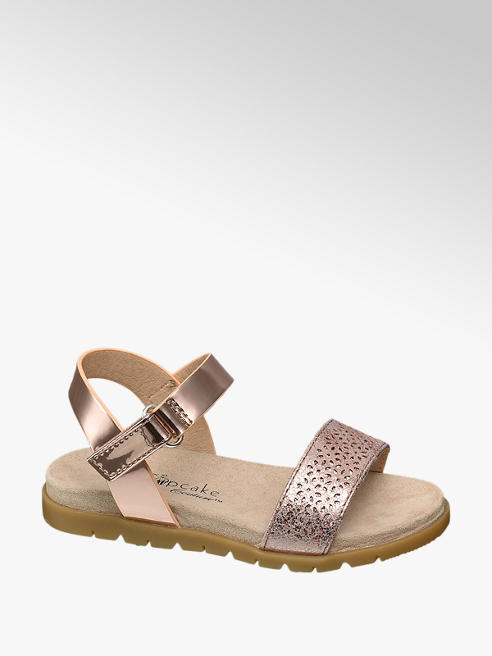 Cupcake Couture Toddler Girl Laser Cut Metallic Sandals