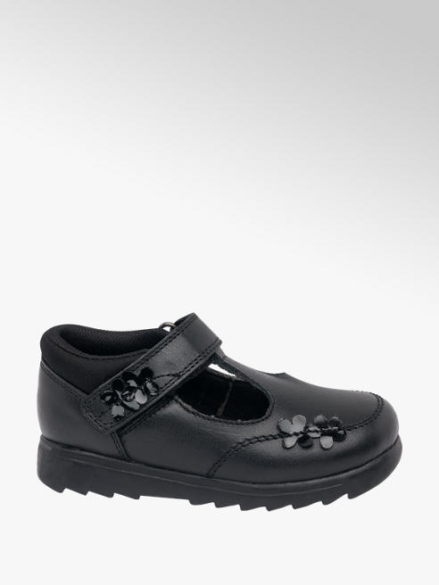 Cupcake Couture Toddler Girl Black Leather T-Bar School Shoes