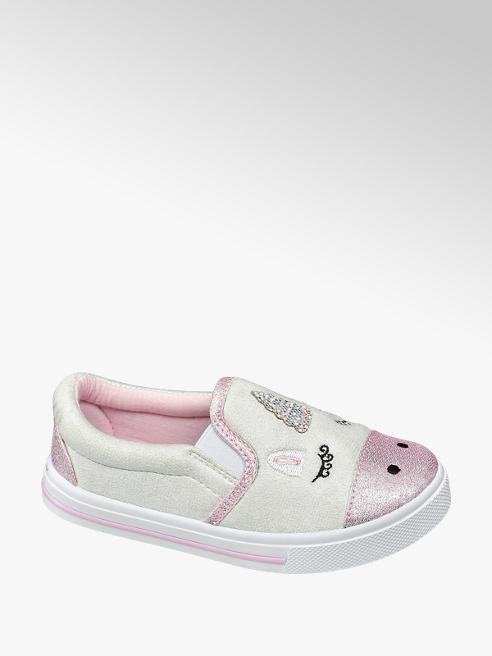 Cupcake Couture Toddler Girl White Shimmer Unicorn Slip On Casual Shoes