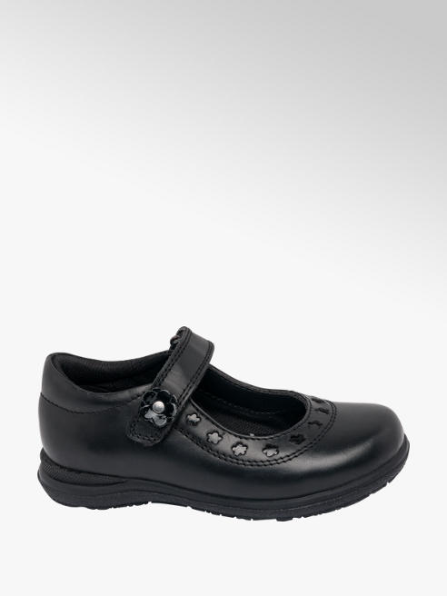Cupcake Couture Toddler Girl Black Leather Cut Out Bar Shoes