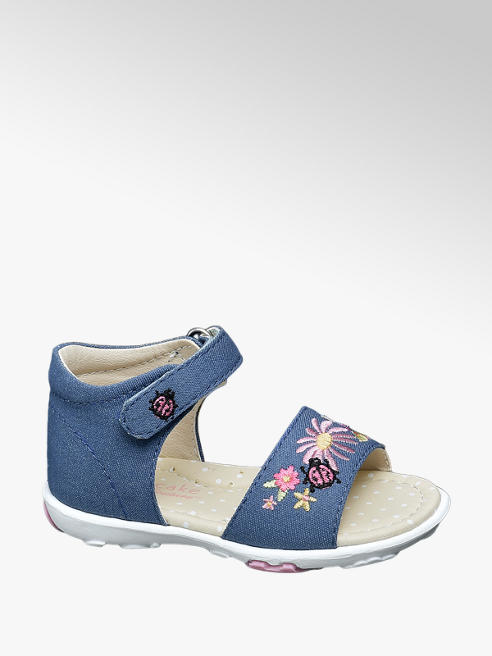 Cupcake Couture Toddler Girl Denim Embroiderd Sandals