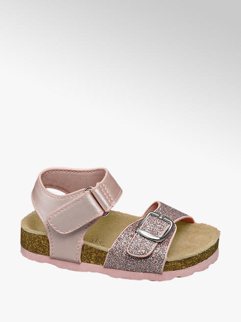 Cupcake Couture Toddler Girls Glitter Footbed Sandals