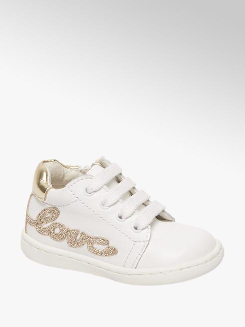 Cupcake Couture Witte leren schoen vetersluiting