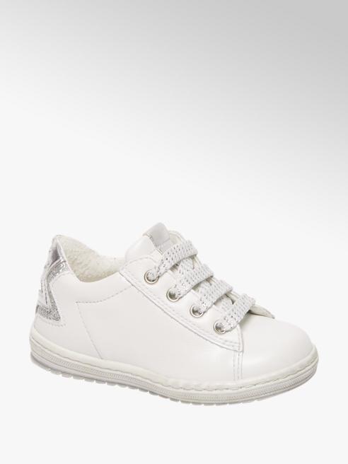 Cupcake Couture Witte leren sneaker vetersluiting