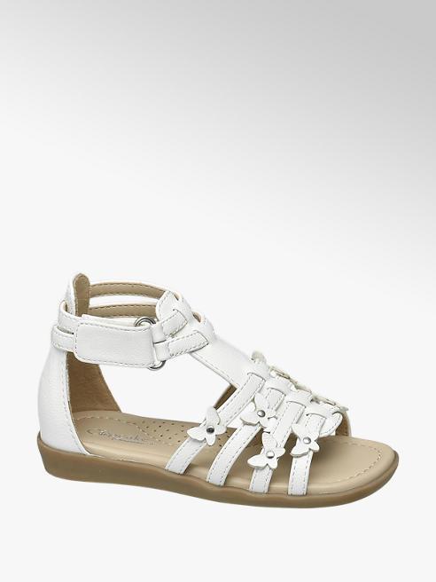 Cupcake Couture Witte sandaal klittenbandsluiting