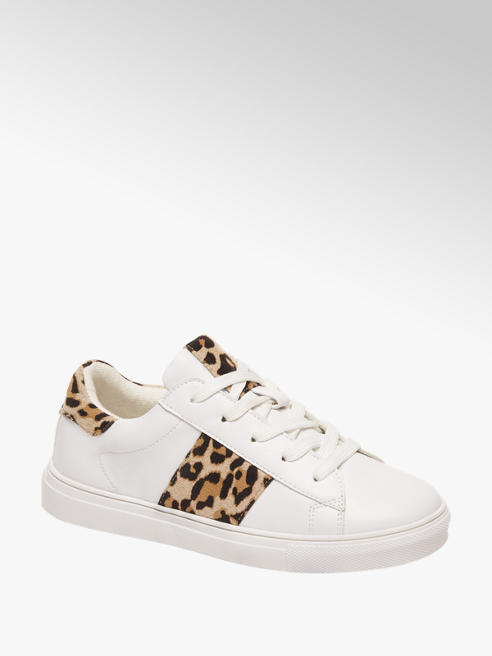 Cupcake Couture Witte sneaker leopard