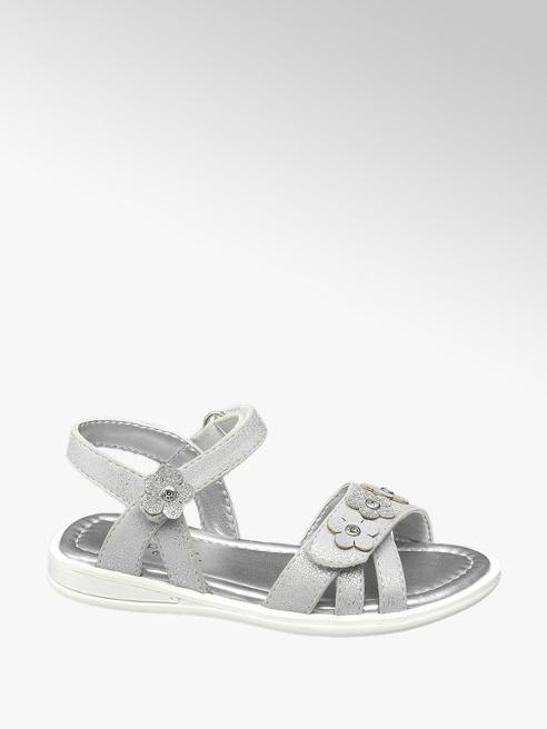 Cupcake Couture Zilveren sandaal klittenbandsluiting
