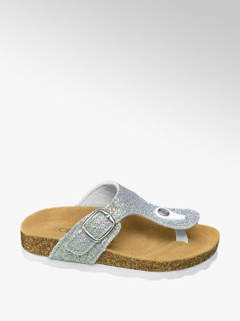 Cupcake Couture Zilveren slipper met glitters