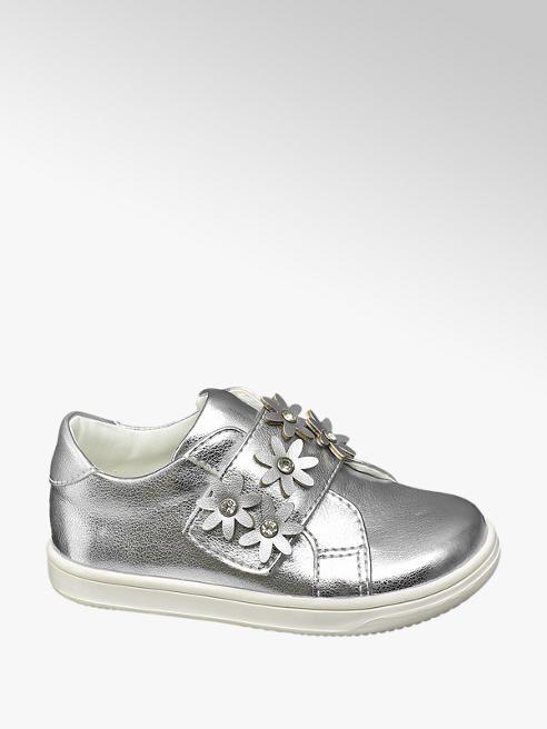 Cupcake Couture Zilveren sneaker klittenbandsluiting