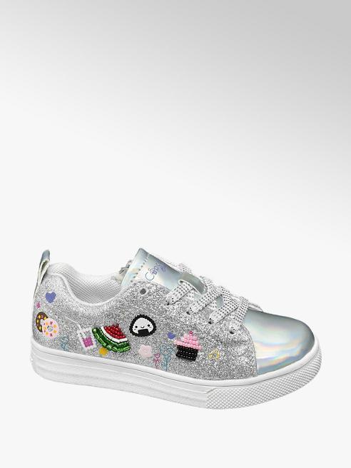 Cupcake Couture Zilverkleurige sneaker symbolen