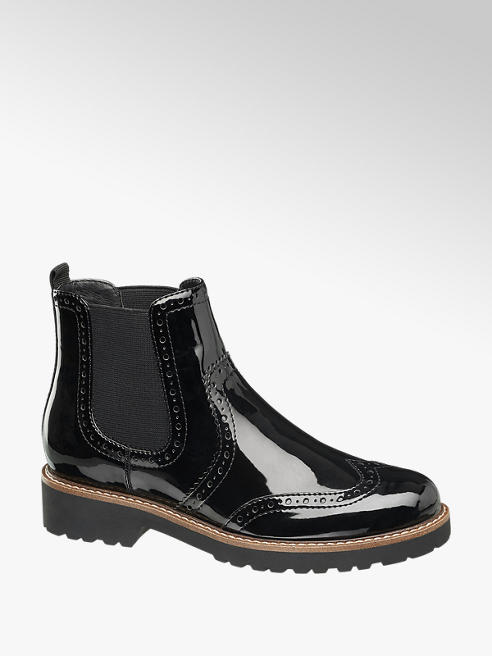 Graceland Chelsea Boots in Lack-Optik