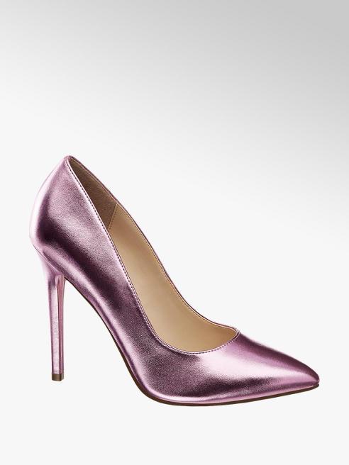 Catwalk High Heels im Metallic-Design