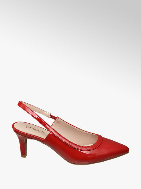 Catwalk Lack Sling Pumps