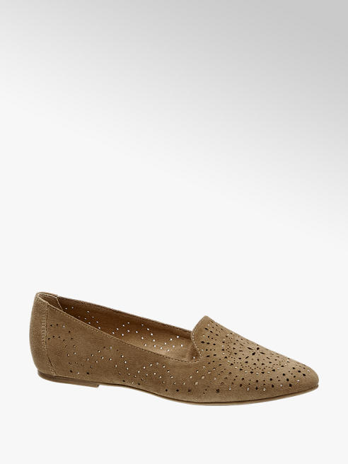 5th Avenue Leder Loafer mit Laser-Cuts