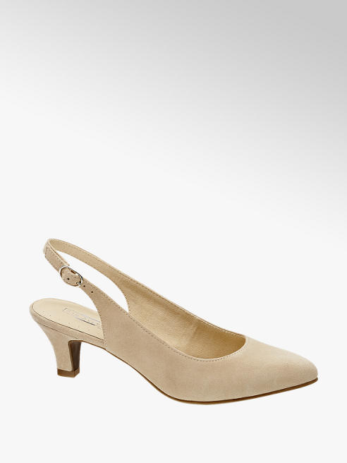 5th Avenue Leder Sling Pumps