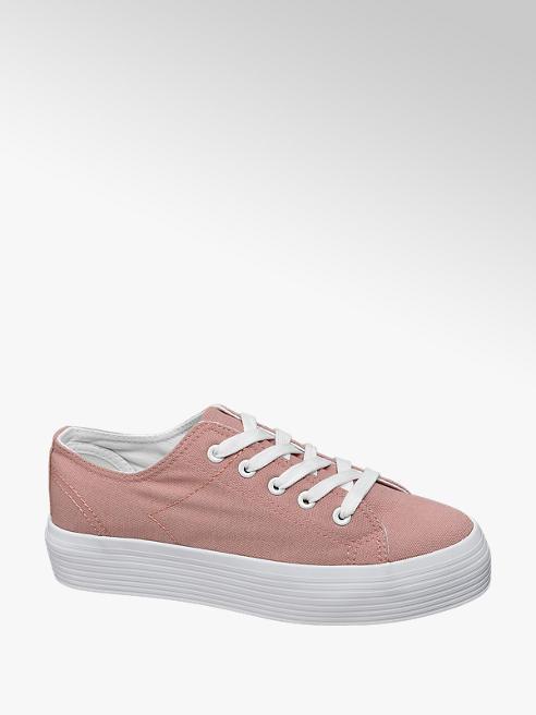 Vty Leinen Plateau Sneakers