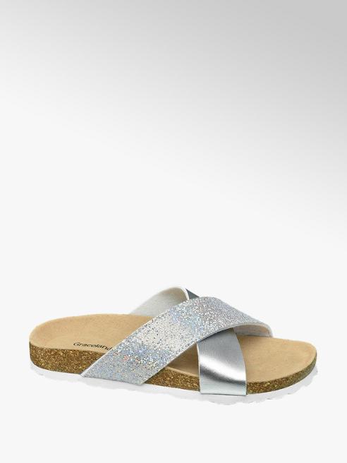 Graceland Pantoletten im Metallic-Look