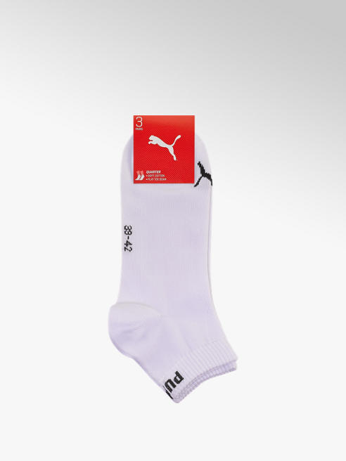 Puma Damen Quarter Socken 3 pack 35-38