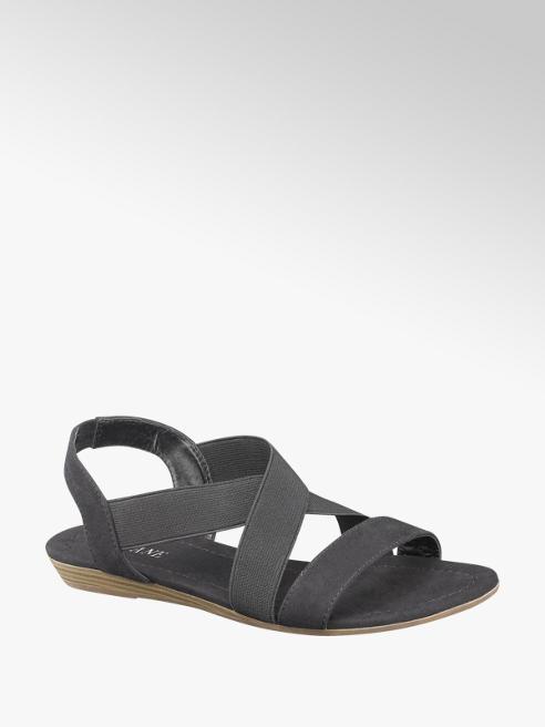 Damen+Sandale++in+schwarz+von+Graceland+