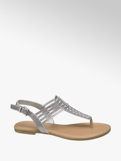 Graceland Sandalen im Metallic-Design