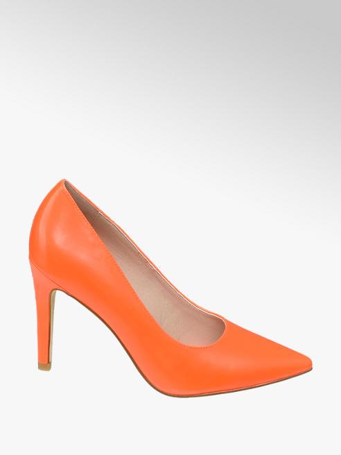 Graceland Décolleté arancio con tacco a spillo
