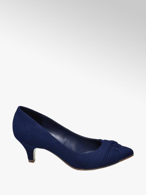 Graceland Décolleté blu con tacco basso