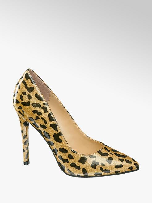 Catwalk Décolleté leopardata con tacco a spillo