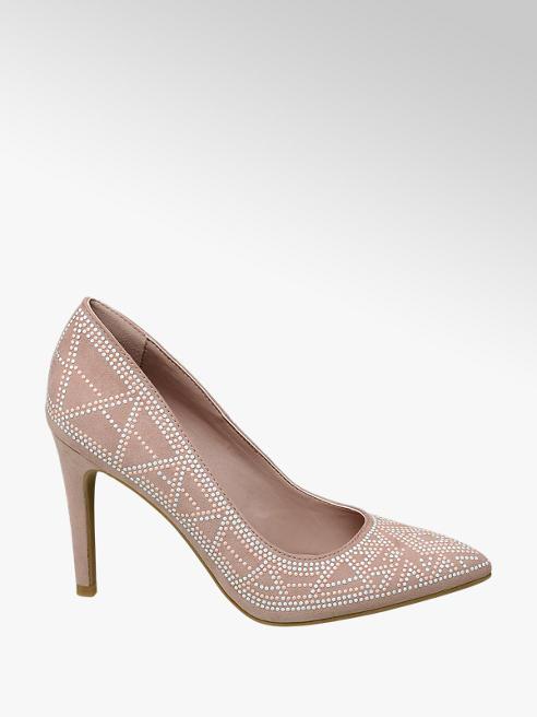 Graceland Décolleté rosa con punti luce