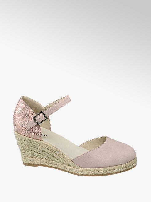 Graceland Décolleté rosa con zeppa