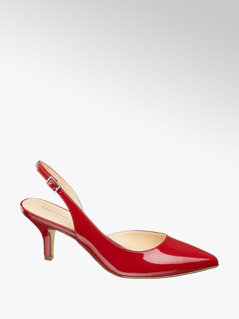 Graceland Décolleté slingback rosso a punta