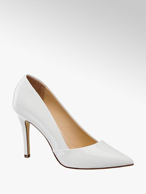 Graceland Decolletè a punta in vernice bianca