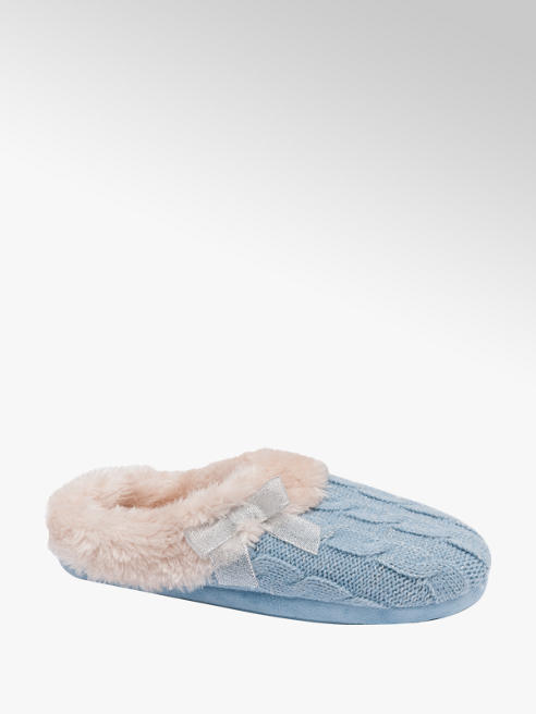 Ladies Knitted Mule Slippers