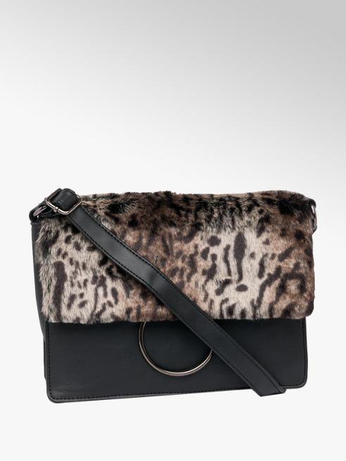 Leopard Fur Cross Body Bag