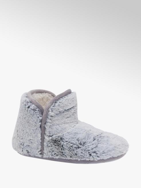 Ladies Plush Bootie Slippers