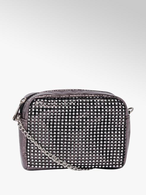 Silver Diamante Cross Body Bag