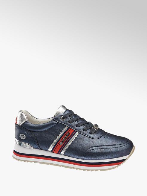 Dockers Plateau Sneaker in Blau mit Glanz Details