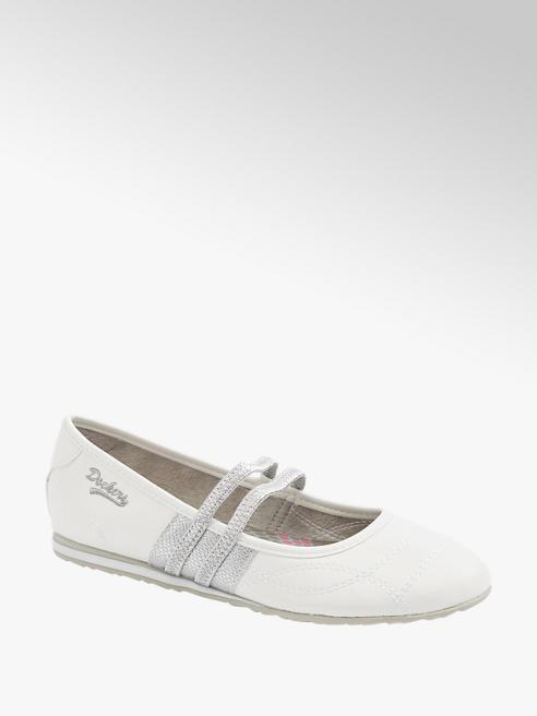 Dockers Slipper in Weiß mit Glanz Details