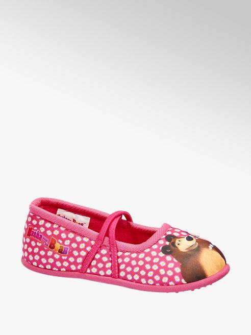 Máša a Medvěd Dívčí domácí obuv