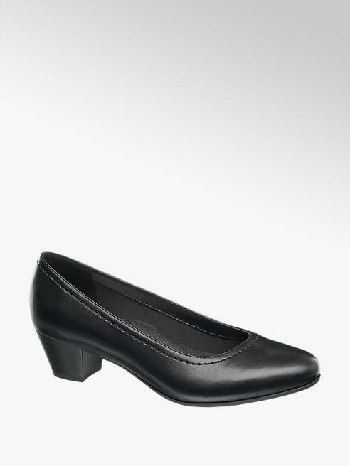 Easy Street Comfort Black Comfort Court Shoes