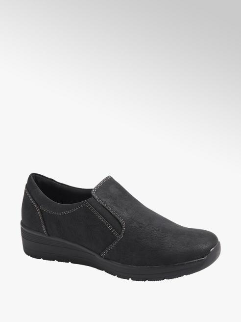 Easy Street Comfort Ladies Black Slip On Comfort Shoes
