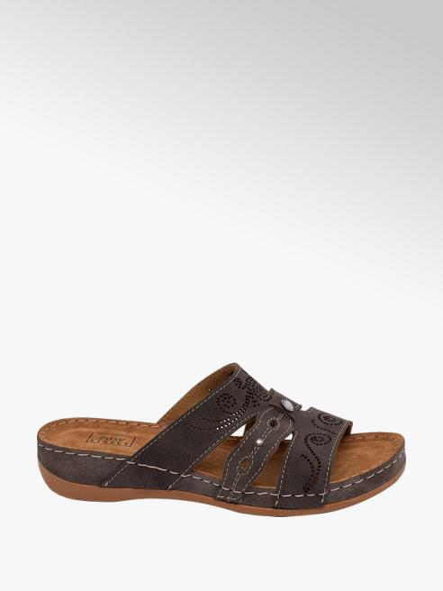 Easy Street Dark Grey Mule Sandals