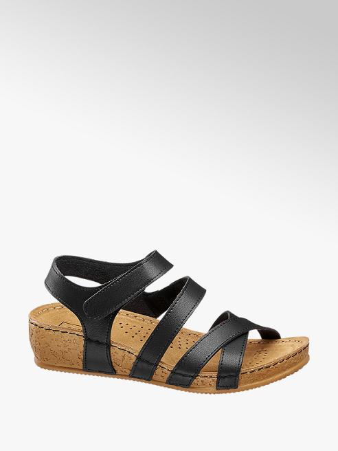 Easy Street Keil Sandalen in Schwarz