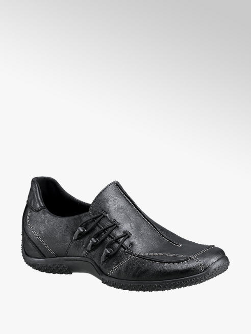 Easy Street Black Elasticated Slip-on Shoes