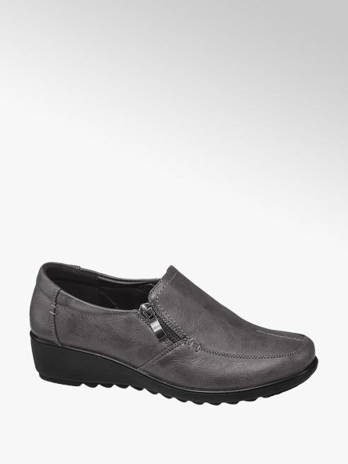 Easy Street Grey Slip-on Comfort Shoes