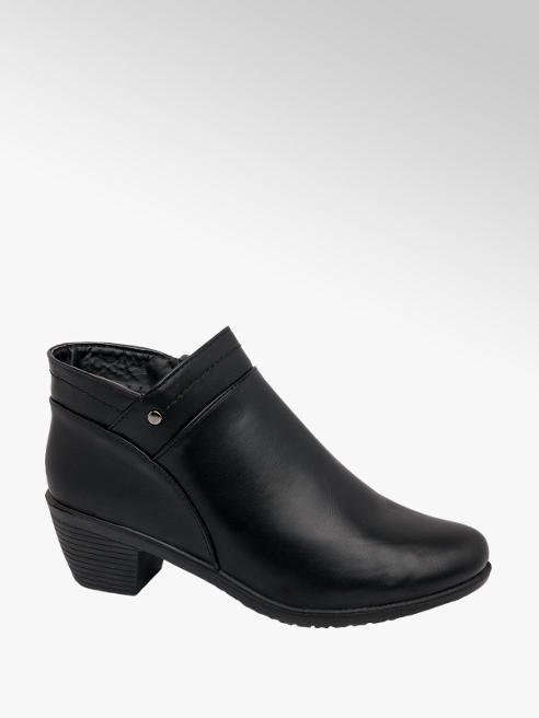 Easy Street Black Heeled Comfort Ankle Boots