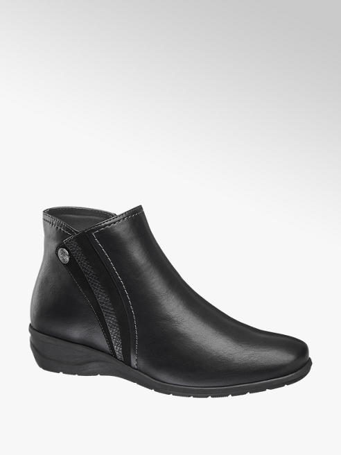 Easy Street Comfort Black Leather Comfort Ankle Boots