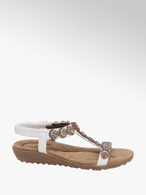 Easy Street White Shell Trim Sandal