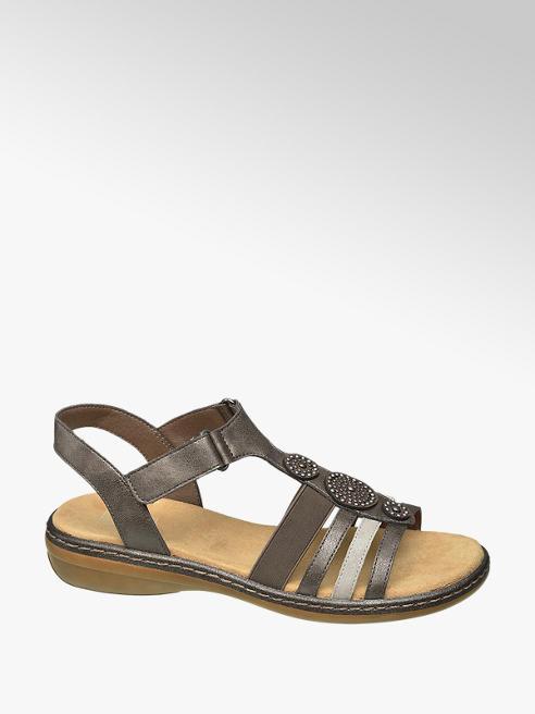 Easy Street Taupe Gem Detail Sandals