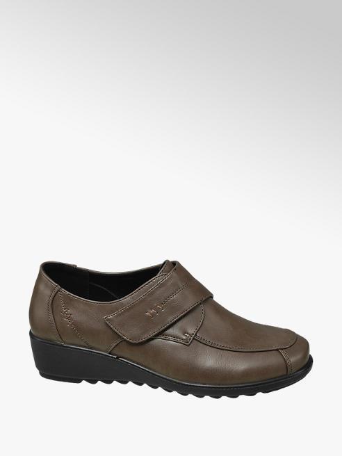 Easy Street Brown Velcro Comfort Shoes